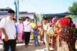 Gubernur Kepulauan Riau H Nurdin Basirun,blusukan, menampung aspirasi masyarakat yang berdomisili di Kampung Dompak Lama, Kecamatan Bukit Bestari, Tanjungpinang
